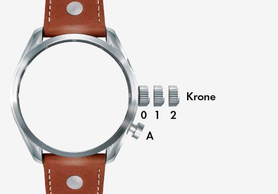 Zeit-Datum-Zone-A
