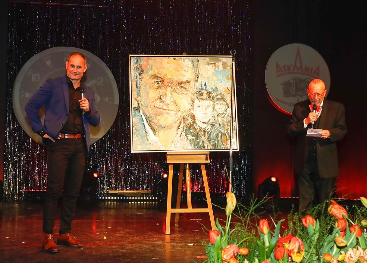 Frank Wagner (Maler), Leonhard Mueller     bei Verleihung ASKANIA Award im Wintergarten Varieté  Berlin.    © Agentur Baganz